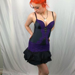 La Senza Bustier Baby doll with Garter Clips Small